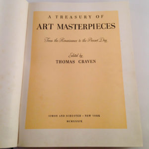 Art Masterpieces by Thomas Craven 1939 - The Nook Yamba Secondhand Books
