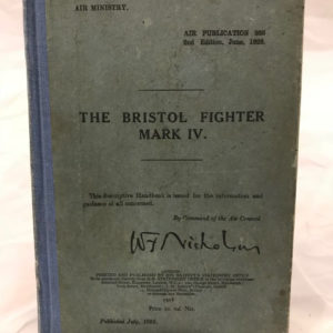 The Bristol Fighter Mark IV Air Publications 866 2nd Edition, June 1928 - The Nook Yamba Second Hand Books